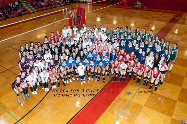The Hannah's Hope volleyball tournament raised more than $4,000 toward the Hannah's Hope Foundation.
