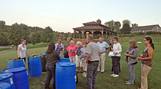Ten free rain barrels were given away at a workshop at the gazebo in Ticonderoga's Bicentennial Park recently. The workshop was sponsored by the Essex County Soil and Water Conservation District, the Lake George Association and the Lake Champlain Lake George Regional Planning Board.