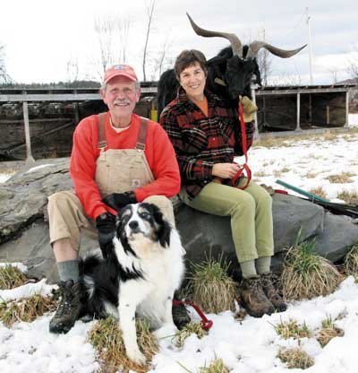 Shirley and Mike Richardson at their Tannery Goat Farm.