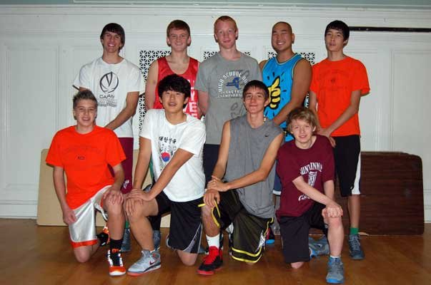 The Keene varsity basketball team returns to the court this season.