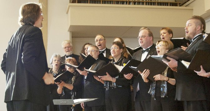 The Syracuse Vocal Ensemble performs during a recent concert.