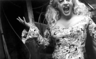 A Rainbow Cattle Co. drag queen from Dummerston. Lovett's photographs of Vermont drag queens are on display in Rutland through Feb. 9.