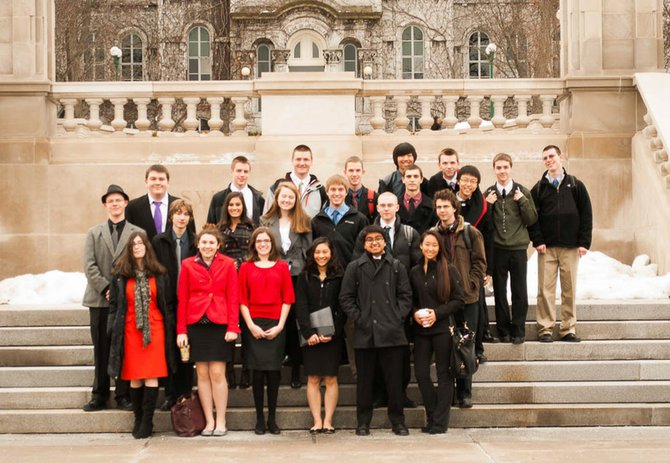 Members of Baker High School's Model United Nations Club joined 400 students from more than 25 area schools at the 30th Central New York Model United Nations Conference held at Syracuse University on Jan. 11 and 12.