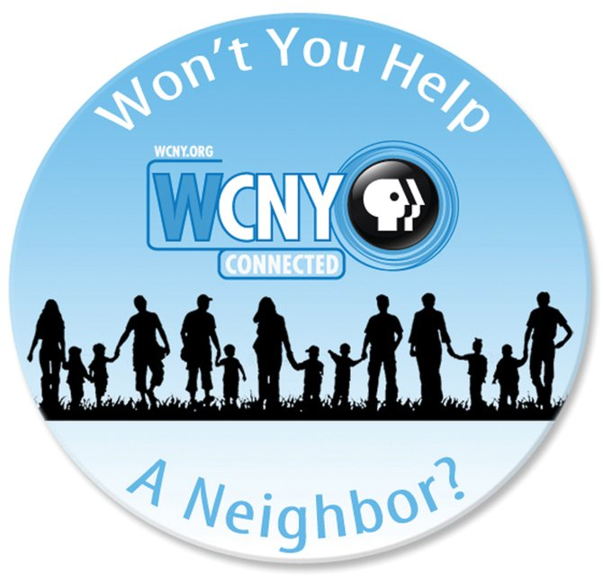 "WCNY, the local public broadcasting station, has started an initiative that promotes local nonprofits. ""Won't You Help a Neighbor?"" derived its name from ""Mr. Rogers' Neighborhood."""