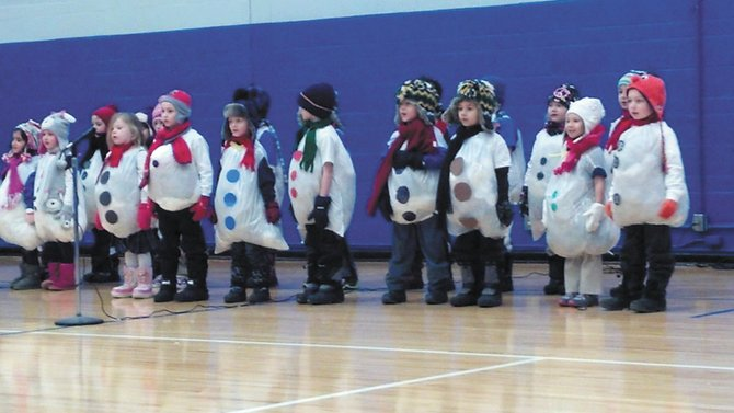 St. Mary's Academy hosts kindergarten play.