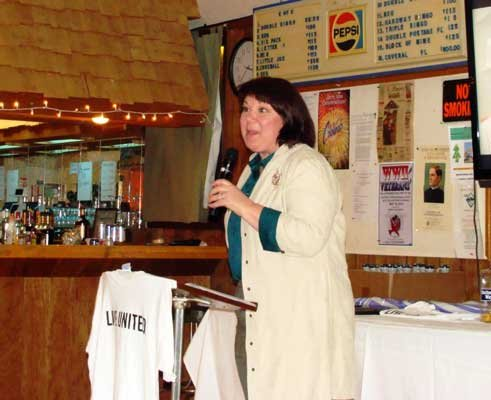 2013 United Way Campaign chairwoman Gayle Alexander speaks during the annual United Way Dinner in Keeseville March 2.