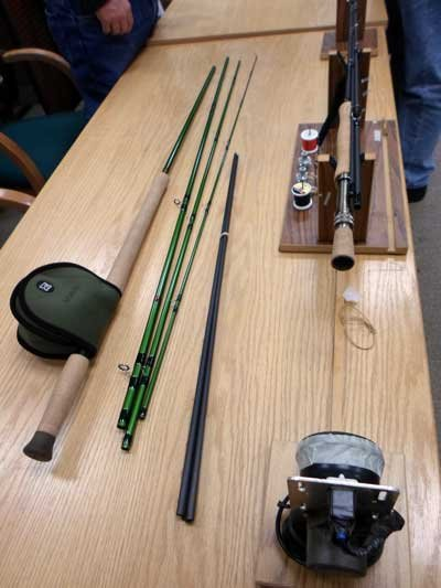 Pictured is a completed 8-weight salmon rod built by Don Lee of TU.