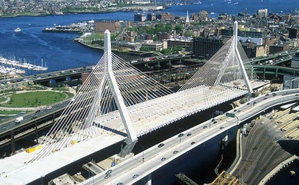 The Bunker Hill Bridge in Boston. Onondaga County Legislator Kathy Rapp is suggesting that the I-81 reconstruction create a similar iconic bridge through Syracuse.