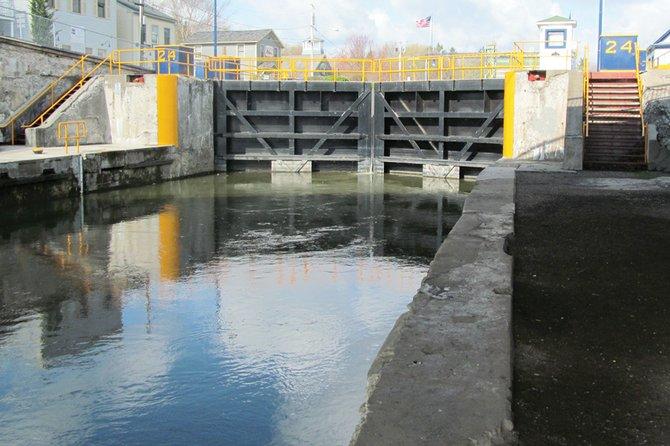 Baldwinsville's Lock 24 along the Seneca River.