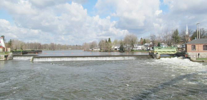 What might be coming down the Seneca River in Baldwinsville from an Auburn waste water treatment plant?
