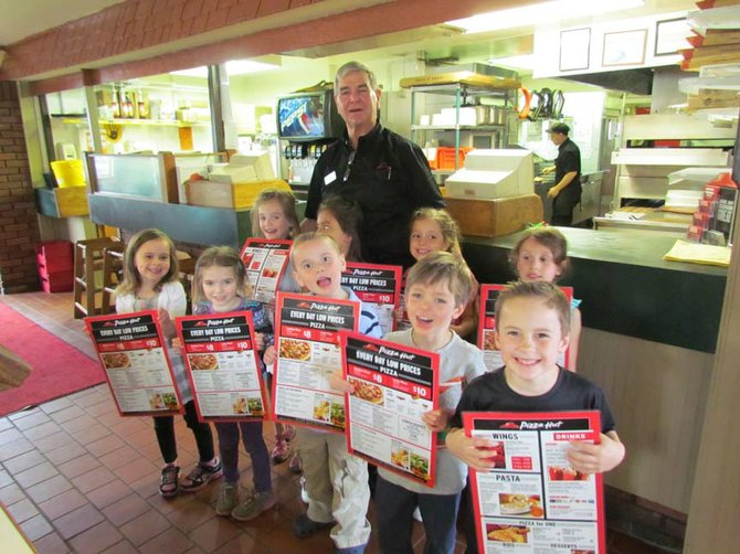 On a recent Tuesday afternoon, Mrs. Jerome's Kindergarten Booster class visited the Pizza Hut on Downer Street.