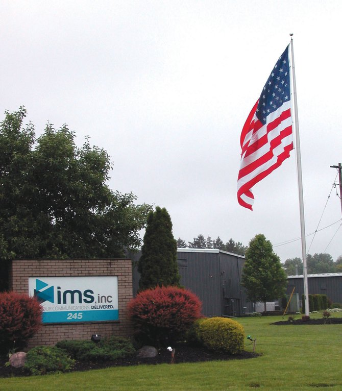 IMS in Liverpool flies this huge flag outside its offices as a show of patriotism.