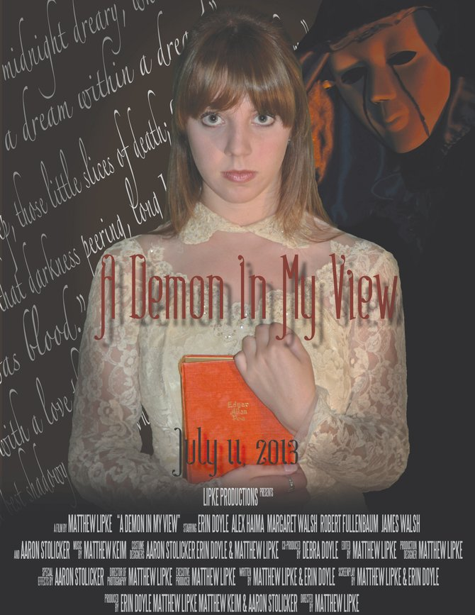 """Erin Lynn Doyle, an alumna of Baker High School, Class of 2011, stars as a college student haunted by her parents' brutal murder in Mathew Lipke's new locally made movie, """"A Demon in My View,"""" which premieres at 9 p.m. Thursday, July 11, at the Hollywood Theatre in Mattydale."""