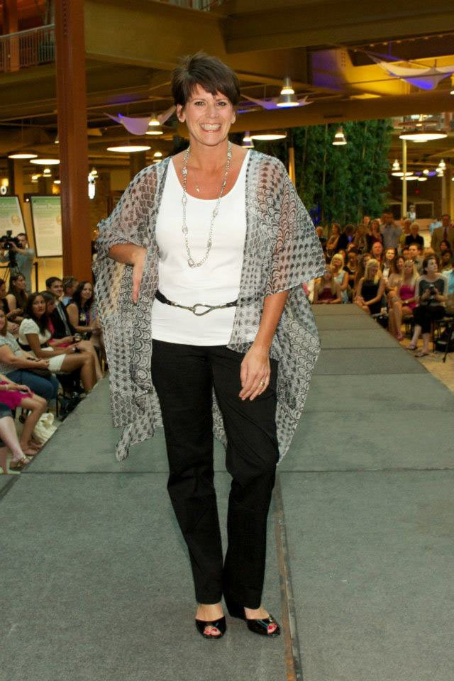 Mary Ellen Clausen, founder of Ophelia's Place, walks the runway at last year's SWM Runway Celebration. This year's event will take place Wednesday, Sept. 25.