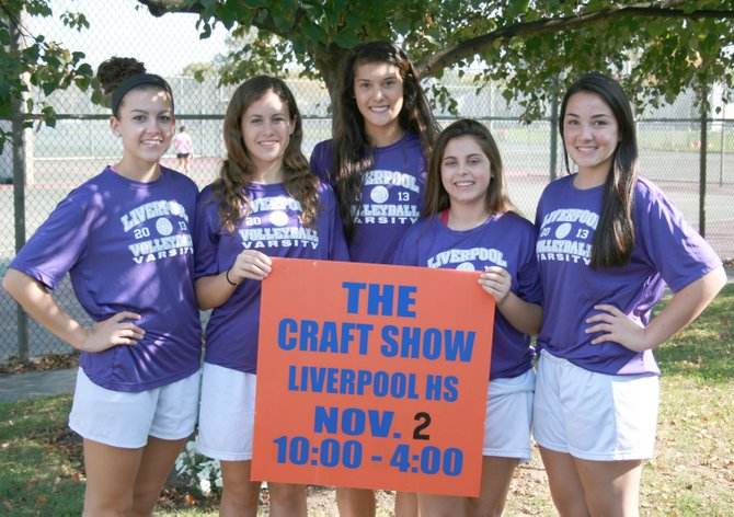 The Liverpool High School Volleyball Program will host its 2013 Fall Craft Fair and Bazaar on Saturday, November 2, from 10 a.m. to 4 p.m. in the LHS gymnasium and cafeteria, 4338 Wetzel Road. Pictured, from left, are LHS seniors and volleyball players Meghan Stonebarger, Ivanna Grynyk, Emily Flohr, Amanda Lauricella and Maggie Conklin.