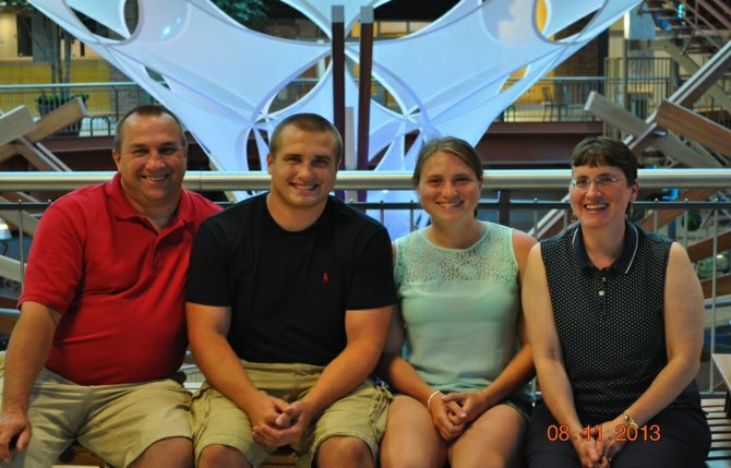 """The Dunay family. Mother Bonnie is battling an aggressive brain tumor. Her friends, calling themselves """"Team Bonnie,"""" are holding a benefit to raise money to support the family this Saturday."""