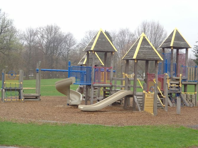 The playground at Longbranch Elementary was built more than 20 years ago. The school is raising money to replace it.