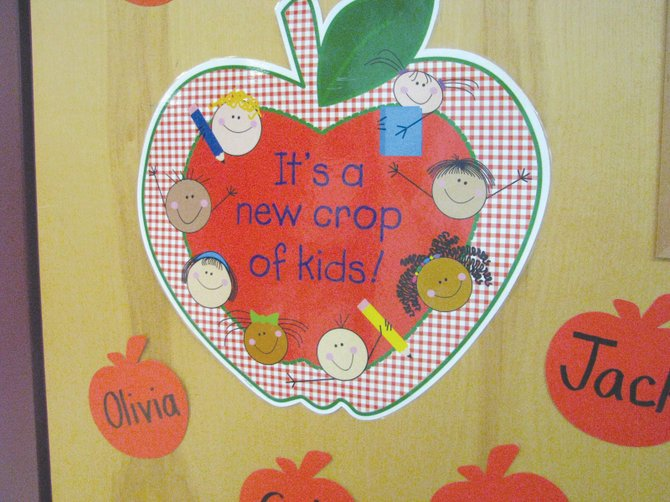 Liverpool and North Syracuse students head back to school next week. Pictured is a decoration found on a door at Soule Road Elementary in the fall of 2012.