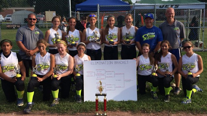 The CNY Cyclones were champions in the 2014 Auburn Extreme 12U fast-pitch softball tournament over the July 25-27 weekend.