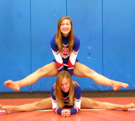 MRU students and cheerleaders Leslie Hixon (top) and Rachel Montross (bottom) will perform with Spirit of America Productions at the 85th Annual Macy's Thanksgiving Day Parade in November.