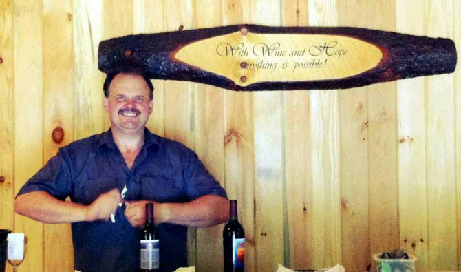Gary Akrop opened Ledge Rock Hill Winery in Corinth in May.