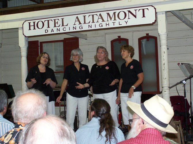The Capitaland Chorus Quartet performs at the 2010 Altamont Fair. This year&#39;s six-day event kicks off on Tuesday, Aug. 16.