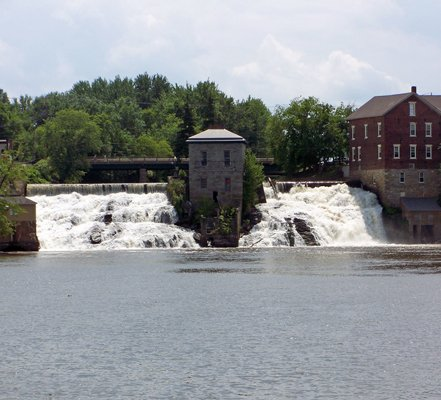 The Otter Creek falls at Vergennes
