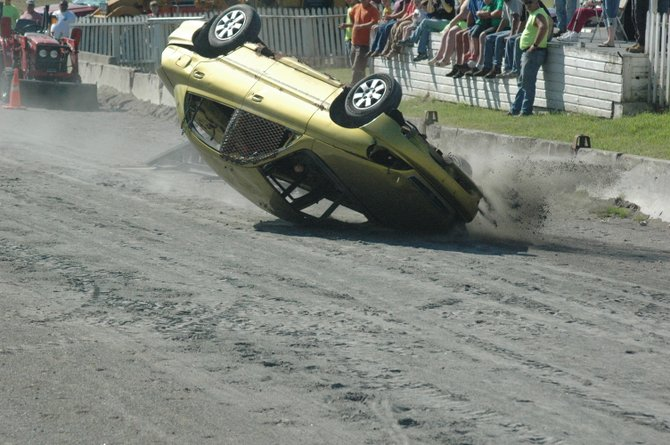 The Essex County Fair begins with the Haulin' Junk Rollover Contest on the fairgrounds in Westport.