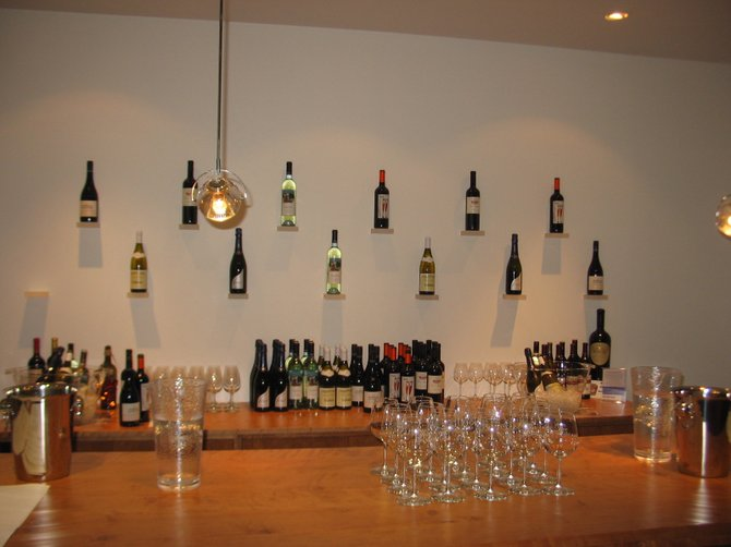 The Savvy Wine Cellar wine tasting station.
