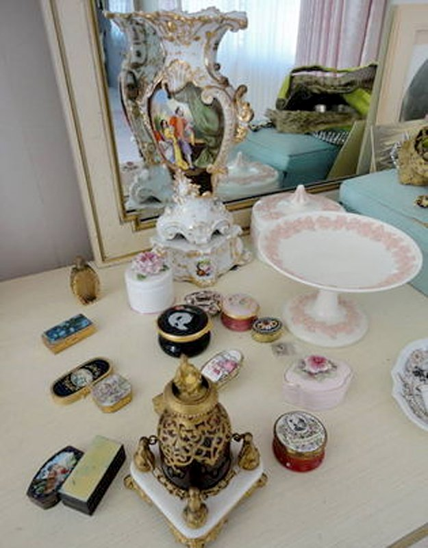 A collection of items that went up for bids earlier this month when Joan Vadeboncoeur's estate in Cazenovia was auctioned.