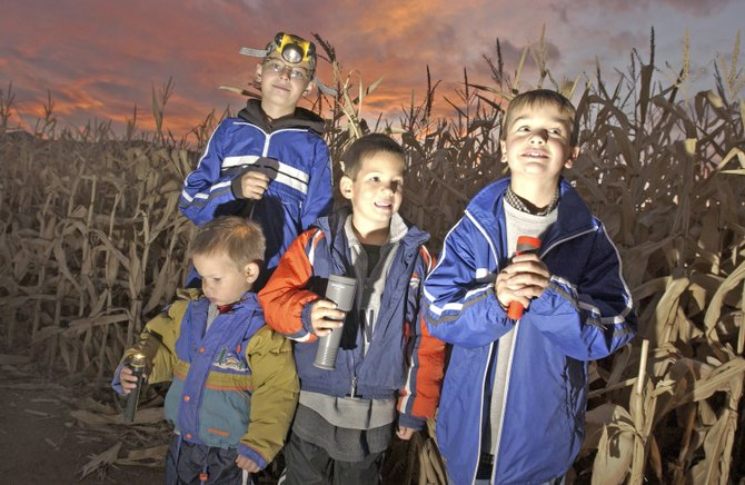 "Fort Ticonderoga's new ""Heroic Maze: A Corn Maze Adventure"" is open 10 a.m. to 5 p.m. through Oct. 20.  In late October, the ""Heroic Maze"" opens after dark for Flashlight Nights. People can explore Fort Ticonderoga's six-acre corn maze at night."