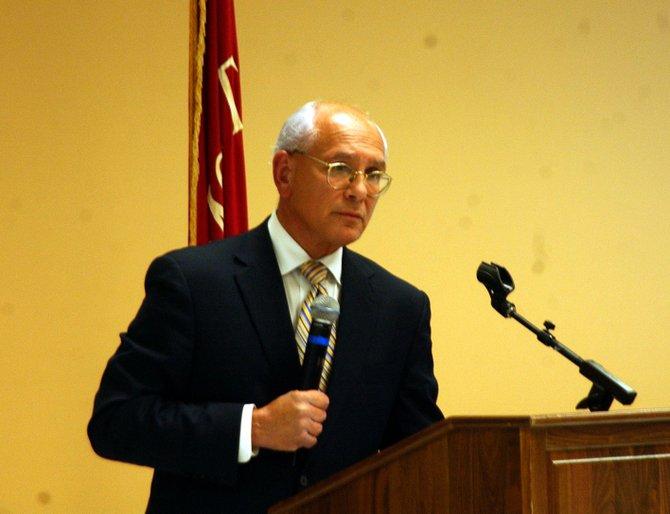 The public filled the Altamont firehouse's meeting room on Wednesday, Aug. 17, to put questions to Congressman Paul Tonko. Though the town hall meeting covered many subjects, the discussion invariably veered to the economy and jobs.