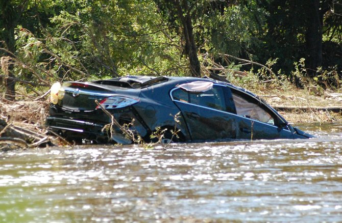 A submerged vehicle was found the morning of Aug. 29 in the Great Chazy River in the Clinton County town of Altona.