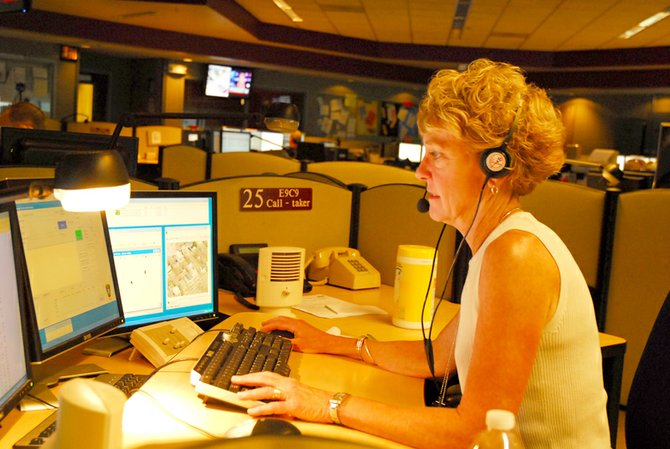 Ann Gaffney, Onondaga Hill, works as a call taker at the county 911 center. She has answered 911 calls for 35 years.