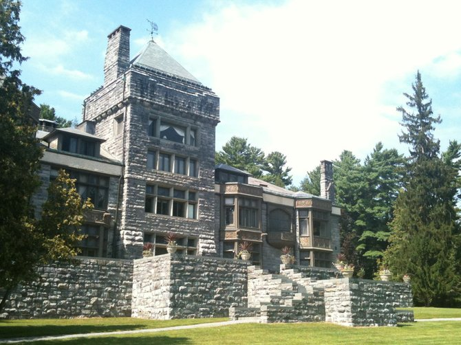Yaddo Mansion has 55 bedrooms. Much of the furniture is from the original owners.