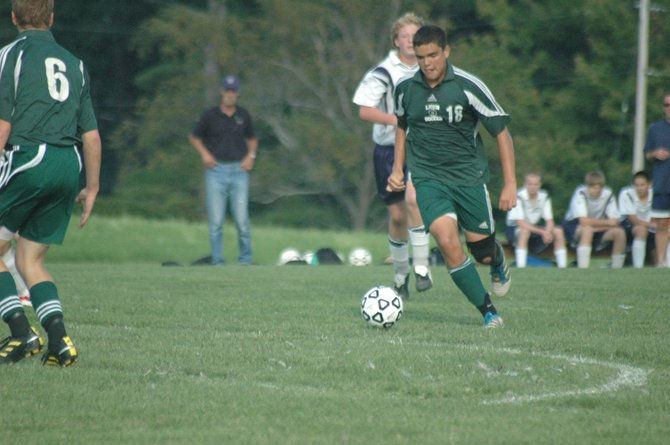 Connor Apthorp scored three goals against the Westport Eagles Sept. 12 in a 9-0 Lions win.