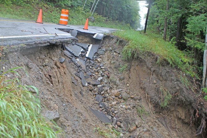 Flooding caused by the remnants of Hurricane Irene may have a lasting impact on Ticonderoga taxes. The storm caused seven roads and two bridges to be closed Aug. 28, leaving behind an estimated $1 million in damage to local thoroughfares. It also left the Ti town board trying to figure out a way to pay for repairs.