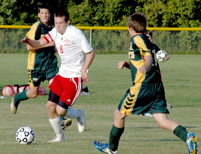 Willsboro's Clay Sherman scored the second goal against Northern Adirondack as the Warriors recorded a 2-0 win against the Bobcats Sept. 14.