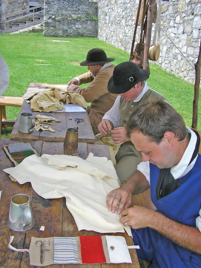 Fort Ticonderoga recently held a leather breeches construction workshop, led by Joel Anderson, Fort Ticonderogas historic trades program supervisor.  The program was open to re-enactors to learn how to make leather breeches which were very common in the 18th century. 