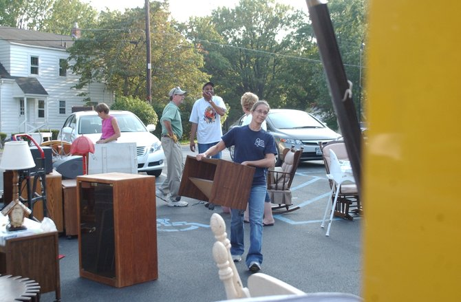 Members of the Delmar United Methodist Church loaded up trucks with donated household supplies and furniture on Wednesday, Sept. 14, to go to people in Schoharie County impacted by Tropical Storm Irene and the subsequent flooding.