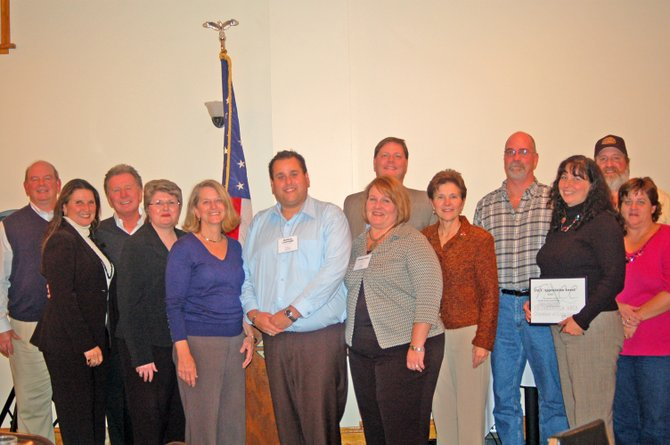In 2010 the Ticonderoga Area Chamber of Commerce volunteer appreciation dinner included award winners along with TACC Board President Pamela Nolan, TACC Executive Director Matthew Courtright and Assemblywoman Teresa Sayward.