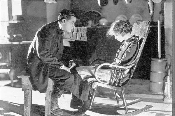 """Richard Barthelmess and Lillian Gish in D.W. Griffith's """"Way Down East"""" (1920). The classic screens Oct. 14 with a brand new soundtrack by composer Philip Rothman."""