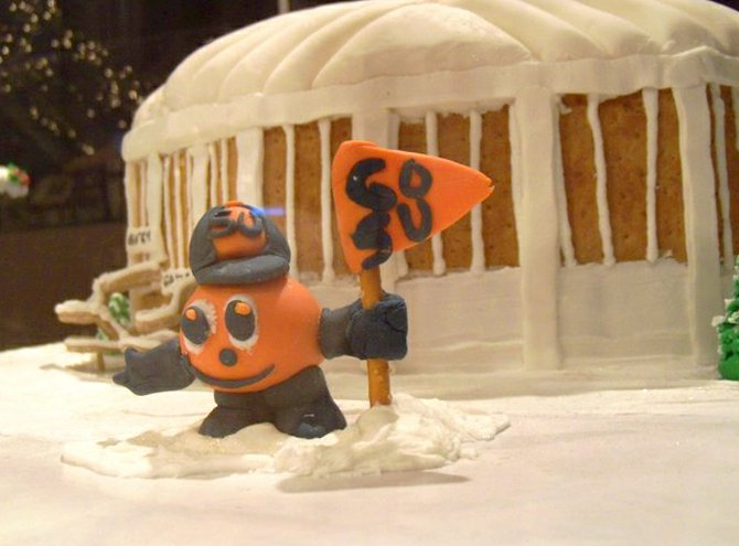 One of the pieces on display in the 2010 gingerbread gallery at the Erie Canal Museum.