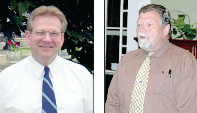 "Incumbent Essex County Clerk Joeph ""Joe"" Provoncha, left, is facing a challenge from Brent Vosburg, right."