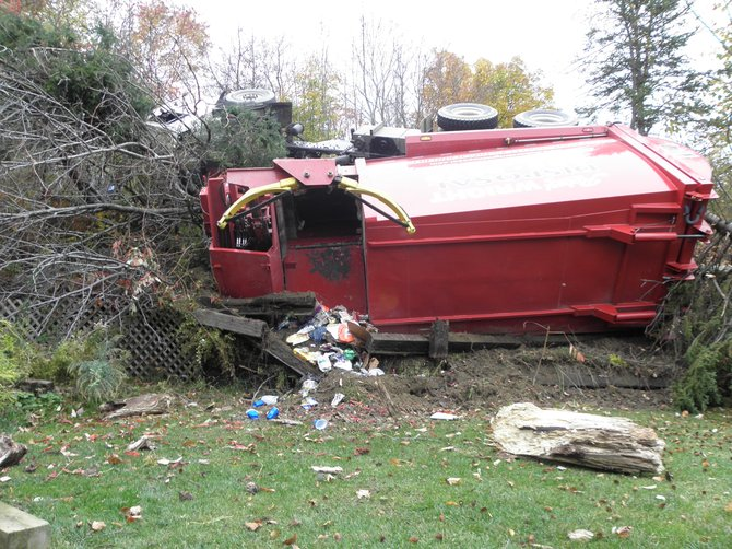 The Albany County Sheriff's Office reports that Vincent Quinn was driving the truck during the morning of Oct. 19 on a steep portion near 71 Cass Hill Road, when he lost control on a curve, causing the truck to roll over.