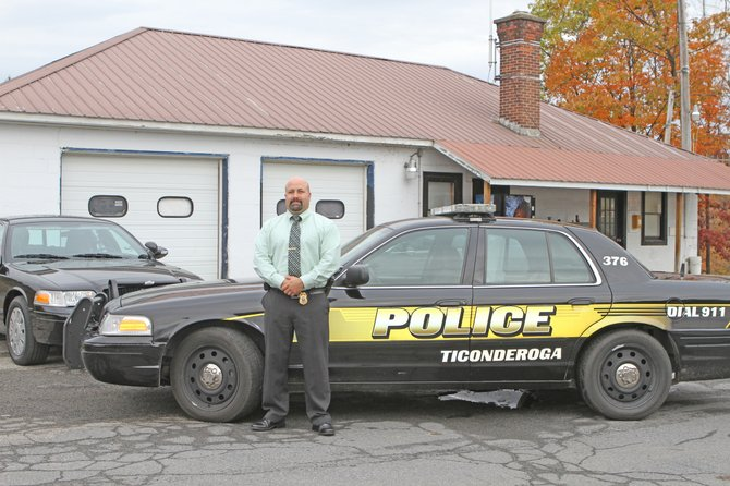 Investigator Dan LaFrance stands outside the Ticonderoga Police Department in Burgoyne Road. The Ti town board has directed its attorney to begin negotiations to lease the former Rite Aid building on Montcalm Street as a new police headquarters.