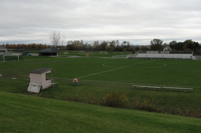 "Field Number One at the Sean Googin Memorial Sports Complex, on Fenner Road in Cazenovia, is expected to have four 70-foot-tall lighting towers installed this spring. The group ""Light Up Fenner"" has secured more than half the funds needed to purchase a $125,000 lighting system from the company Musco Lighting."