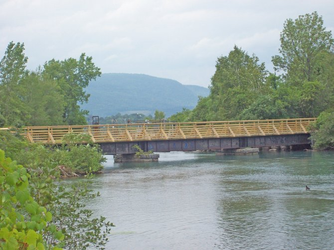 The Trestle Walking Bridge has opened over the LaChute River adding another length to the historic LaChute River Trail. The entire community is invited to celebrate the new walkway at the trestle's dedication on Wednesday, Nov. 3, at 4:30 p.m.