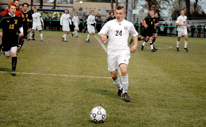 Brandon Laurin scored the game-winning goal in extra time as the Chazy Eagles advanced to the Section VII/Class D finals with a 1-0 win against the Elizabethtown-Lewis Lions.