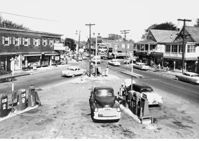 A picture of the Four Corners in Delmar in 1957. (submitted photo)